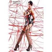 Платье с открытой грудью Yuriko в комплекте с веревками для ...
