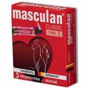 Розовые презервативы Masculan Classic Sensitive - 3 шт....