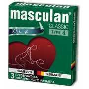 Розовые презервативы Masculan Classic XXL увеличенного разме...