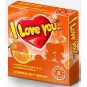 Презервативы I love you с ароматом апельсина...