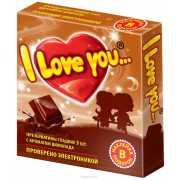 Презервативы I love you с ароматом шоколада...