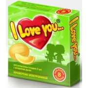 Презервативы I love you с ароматом дыни...